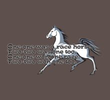One-one was a race horse.  One Piece - Short Sleeve