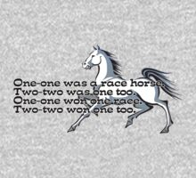 One-one was a race horse.  One Piece - Long Sleeve