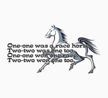 One-one was a race horse.  Kids Tee