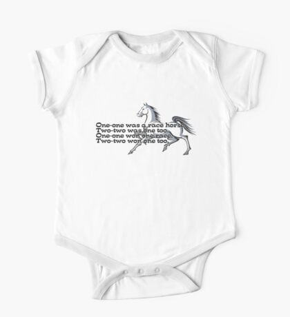 One-one was a race horse.  Kids Clothes