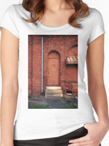Knock Before Entering Women's Fitted Scoop T-Shirt