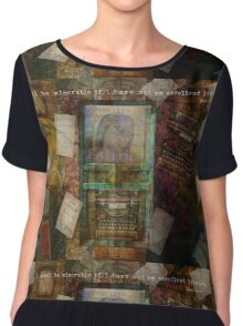 I shall be miserable if I have not an excellent library Jane Austen quote about books Chiffon Top