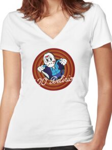 H2O Delirious 1930's Cartoon Character Women's Fitted V-Neck T-Shirt