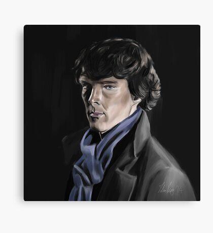 Benedict Cumberbatch as Sherlock Canvas Print