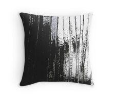 Grunge Black & White Pattern Throw Pillow