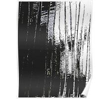 Grunge Black & White Pattern Poster