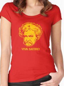 Viva Satire Mark Twain Shirt Women's Fitted Scoop T-Shirt
