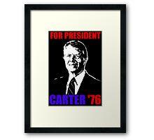 CARTER '76 Framed Print
