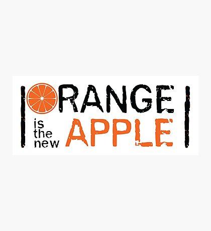 Orange is the new Apple Photographic Print