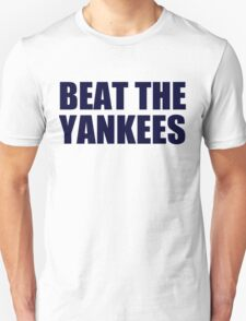 Boston Red Sox - BEAT THE YANKEES - Blue Text T-Shirt