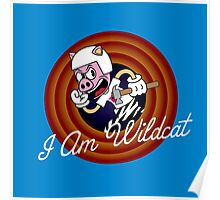 I Am Wildcat 1930's Cartoon Character Poster