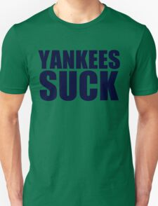 Boston Red Sox - YANKEES SUCK - Blue Text T-Shirt
