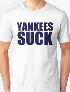 Boston Red Sox - YANKEES SUCK - Blue Text T-Shirt