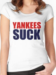 Boston Red Sox - YANKEES SUCK Women's Fitted Scoop T-Shirt
