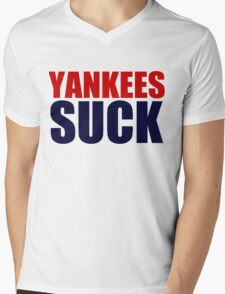 Boston Red Sox - YANKEES SUCK Mens V-Neck T-Shirt