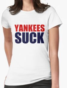 Boston Red Sox - YANKEES SUCK Womens Fitted T-Shirt