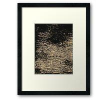 Rocky Wall Pattern Framed Print