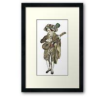 Pirate Musician Cat  Framed Print