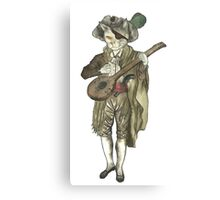 Pirate Musician Cat  Canvas Print