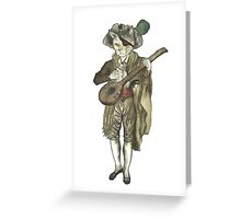 Pirate Musician Cat  Greeting Card