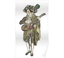 Pirate Musician Cat  Poster