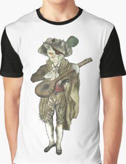 Pirate Musician Cat  Graphic T-Shirt