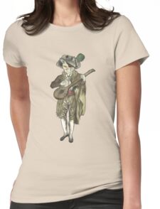 Pirate Musician Cat  Womens Fitted T-Shirt