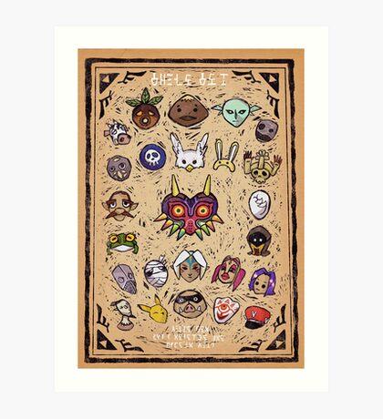 Majora's Masks Art Print