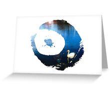 Chill Swan Lake Greeting Card
