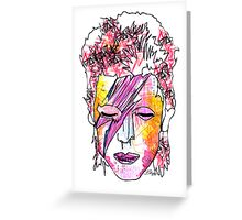 David Bowie 'Ziggy Stardust' Greeting Card