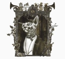 Mr. Sphinx with Frame One Piece - Long Sleeve