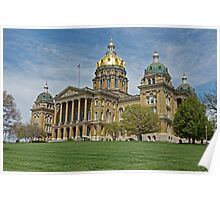 Iowa State Capitol Building Angled Poster