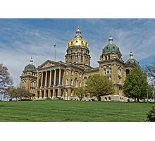 Iowa State Capitol Building Angled Photographic Print