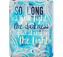 a torch against the night iPad Case/Skin