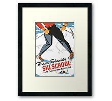 Hannes Schneider Ski School New Hampshire Framed Print