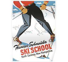 Hannes Schneider Ski School New Hampshire Poster