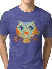 Owl's Summer Love Letters Tri-blend T-Shirt