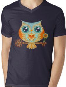 Owl's Summer Love Letters Mens V-Neck T-Shirt