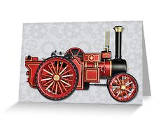 STEAMPUNK STEAM ENGINE DESIGN Greeting Card