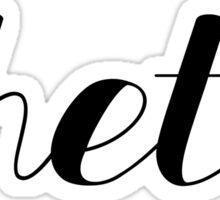 theta black script Sticker