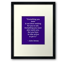 EVERYTHING YOU WANT Framed Print