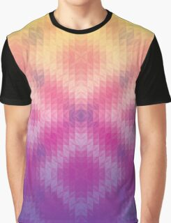 Ombre Sunset Geometric Pattern Graphic T-Shirt