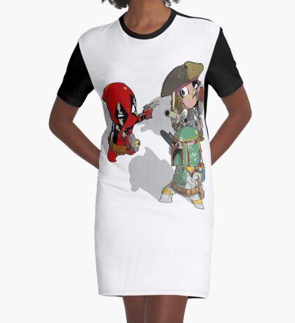 Mexican Standoff Graphic T-Shirt Dress