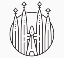 Sagrada Familia Logo TShirt by banryoku
