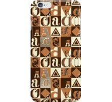 "I'm ""A"" Pattern two (orange) iPhone Case/Skin"