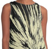 Abstract Explosion Line Art Pattern Contrast Tank