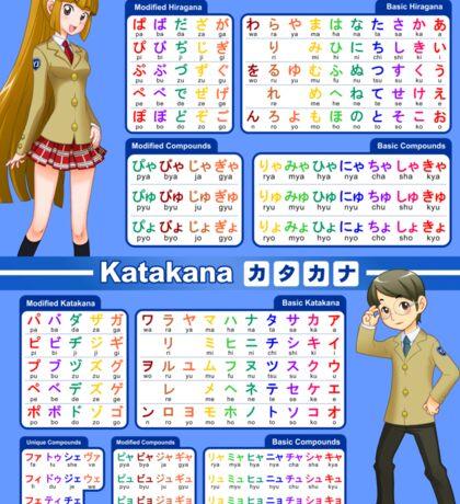 Hiragana and Katakana Chart / Poster Sticker