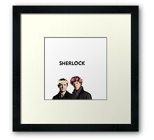 BBC Sherlock John And Sherlock Flower Crown Framed Print