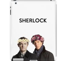 BBC Sherlock John And Sherlock Flower Crown iPad Case/Skin