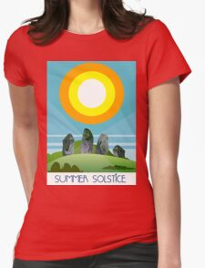 Summer Solstice Womens Fitted T-Shirt